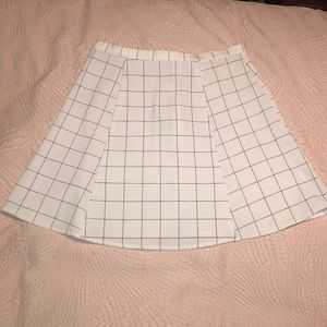 American Apparel Black and White Checkered Skirt